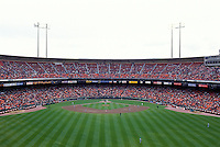 SAN FRANCISCO, CA - General overall stadium view of the San Francisco Giants home ballpark, Candlestick Park in San Francisco, California on opening day in 1995. Photo by Brad Mangin