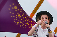 Comedian Felicity Ward performs on day 2 of the 2019 Latitude Festival at Henham Park, Suffolk. 20th July 2019<br /> <br /> Photo by Stuart Hogben