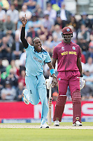 Jofra Archer (England) celebrates during England vs West Indies, ICC World Cup Cricket at the Hampshire Bowl on 14th June 2019