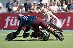 GER - Mannheim, Germany, May 27: During the women semi-final match between UHC Hamburg and Rot-Weiss Koeln at the Final4 tournament May 27, 2017 at Am Neckarkanal in Mannheim, Germany. (Photo by Dirk Markgraf / www.265-images.com) *** Local caption *** Yvonne Frank #27 of Uhlenhorster HC Hamburg