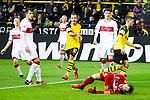 09.03.2019, Signal Iduna Park, Dortmund, GER, 1.FBL, Borussia Dortmund vs VfB Stuttgart, DFL REGULATIONS PROHIBIT ANY USE OF PHOTOGRAPHS AS IMAGE SEQUENCES AND/OR QUASI-VIDEO<br /> <br /> im Bild   picture shows:<br /> Christian Pulisic (Borussia Dortmund #22) trifft zum 3:1, <br /> <br /> Foto &copy; nordphoto / Rauch