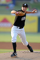 Jackson Generals starting pitcher Danny Hultzen #33 delivers a pitch during the Southern League All-Star Game  at Smokies Park on June 19, 2012 in Kodak, Tennessee.  The South Division defeated the North Division 6-2. (Tony Farlow/Four Seam Images).