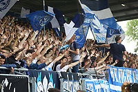 Darmstaedter Fans feuern ihre Mannschaft an - 13.05.2018: SV Darmstadt 98 vs. FC Erzgebirge Aue, Stadion am Boellenfalltor, 34. Spieltag 2. Bundesliga