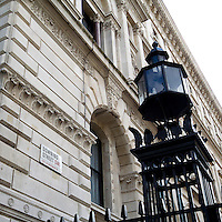Downing Street in London. The most famous address in Downing Street is 10 Downing Street, the official residence of the Prime Minister  of the United Kingdom.