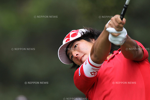 Ryo Ishikawa (JPN), JUNE 16th, 2011 - Golf : Ryo Ishikawa of Japan hits his shot on the 3rd hole during the first round for the 2011 U.S. Open golf tournament at Congressional Country Club in Bethesda, Maryland, June 16, 2011. (Photo by Koji Aoki/AFLO SPORT)..