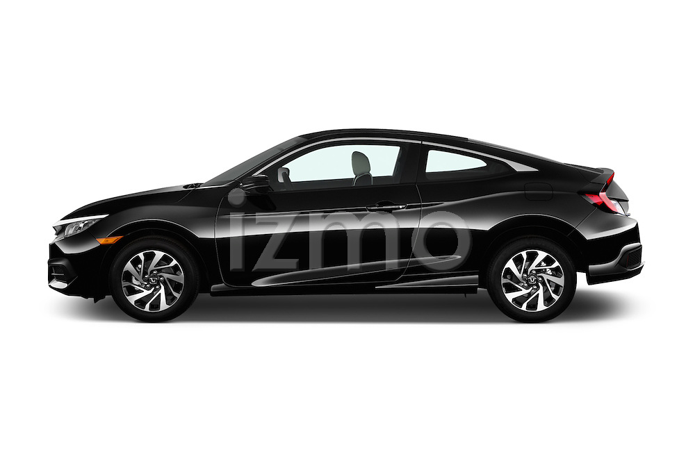 Car Driver side profile view of a 2016 Honda Civic LX 3 Door Coupe Side View