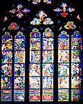 Stained glass window, Prague castle, Czech republic