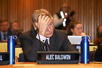 NOVA YORK, EUA, 05.02.2019 - ONU-NOVA YORK - O ator Alec Baldwin durante encontro para falar sobre a comida no mundo na Sede da Onu em Nova York nesta terça-feira, 05. (Foto: Vanessa Carvalho/Brazil Photo Press)