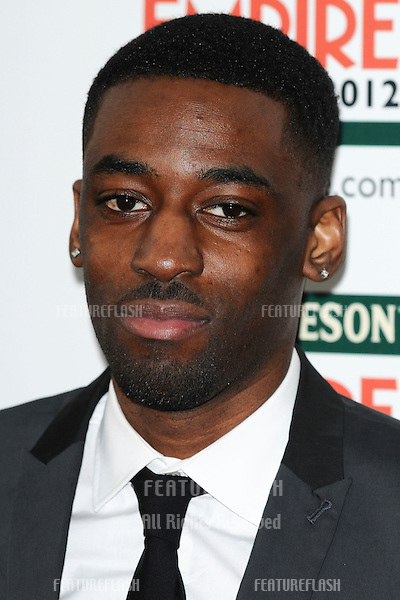 Ashley Thomas arriving for the Empire Film Awards 2012 at the Grosvenor House Hotel, London. 25/03/2012 Picture by: Steve Vas / Featureflash