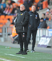 Blackpool's Manager Terry McPhillips and Peterborough United manager Darren Ferguson <br /> <br /> Photographer Kevin Barnes/CameraSport<br /> <br /> The EFL Sky Bet League One - Blackpool v Peterborough United - Saturday 13th April 2019 - Bloomfield Road - Blackpool<br /> <br /> World Copyright &copy; 2019 CameraSport. All rights reserved. 43 Linden Ave. Countesthorpe. Leicester. England. LE8 5PG - Tel: +44 (0) 116 277 4147 - admin@camerasport.com - www.camerasport.com