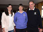 The new lady captain Vivienne Meade with husband Ben and daughter Ruth at Ardee Golf Club. Photo:Colin Bell/pressphotos.ie
