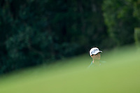 Lucas Bjerregaard of Denmark in act at the final round of the Hong Kong Open golf tournament in Fanling Golf Club, Hong Kong,  25 Oct., 2015