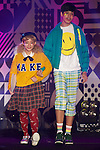 "(L to R) Beck, Kemio, September 28, 2014, Tokyo, Japan : (L to R) Models Beck and Kemio wearing fashion brand ""Zipper"" walk down the catwalk during the ""Moshi Moshi Nippon Festival 2014"" on September 28, 2014 in Tokyo, Japan. Several famous Idols such as Dempagumi idol group, Kyary Pamyu Pamyu and Harayuku models attend the Moshi Moshi Nippon Festival 2014 to promotes the Japanese pop culture (fashion, anime, music and food) to non-Japanese people. (Photo by Rodrigo Reyes Marin/AFLO)"