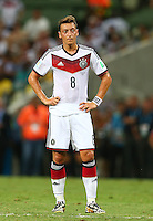Mesut Ozil of Germany shows a look of dejection