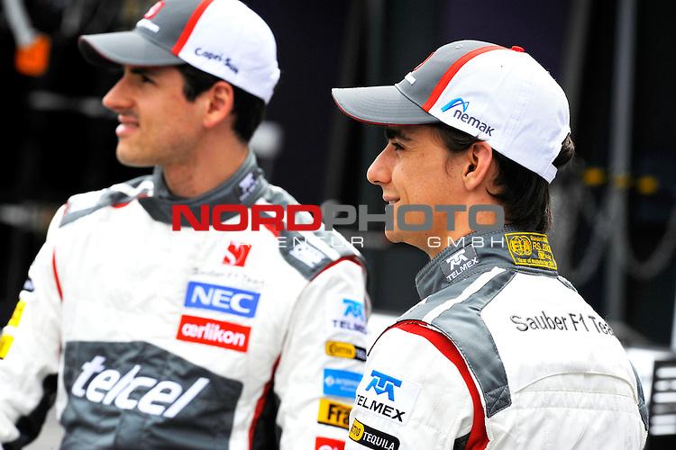 Esteban Gutierrez (MEX) Sauber F1 Team - Adrian Sutil (GER), Sauber F1 Team<br />  Foto &copy; nph / Mathis