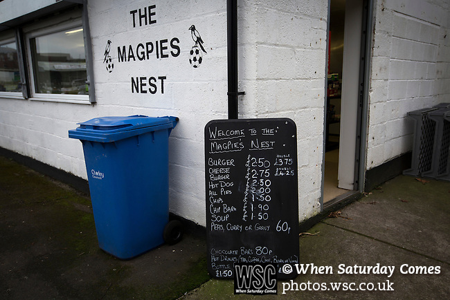 Chorley 2 Altrincham 0, 21/01/2017. Victory Park, National League North. The Magpies Nest, one of the snack bars inside Victory Park, before Chorley played Altrincham in a Vanarama National League North fixture. Chorley were founded in 1883 and moved into their present ground in 1920. The match was won by the home team by 2-0, watched by an above-average attendance of 1127. Photo by Colin McPherson.