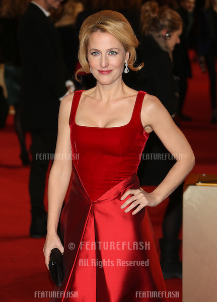 Gillian Anderson arriving at the World Premiere of 'Les Miserables' held at the Odeon & Empire Leicester Square, London. 05/12/2012 Picture by: Henry Harris / Featureflash