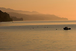 Early morning in late May on Hood Canal near Hoodsport, WA.  Olympic Mountains in background.
