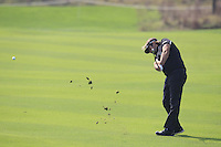 Victor Dubuisson (FRA) plays his 2nd shot on the 9th hole during Sunday's Final Round of the 2014 BMW Masters held at Lake Malaren, Shanghai, China. 2nd November 2014.<br /> Picture: Eoin Clarke www.golffile.ie