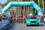The start of Stage 4 of the Presidential Cycling Tour of Turkey 2017 running 204.1km from Marmaris to Sel&ccedil;uk, Turkey. 13/10/2017.<br /> Picture: Brian Hodes/VeloImages | Cyclefile<br /> <br /> <br /> All photos usage must carry mandatory copyright credit (&copy; Cyclefile | Brian Hodes/VeloImages)