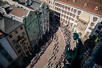 Downtown Innsbruck <br /> <br /> MEN ELITE ROAD RACE<br /> Kufstein to Innsbruck: 258.5 km<br /> <br /> UCI 2018 Road World Championships<br /> Innsbruck - Tirol / Austria