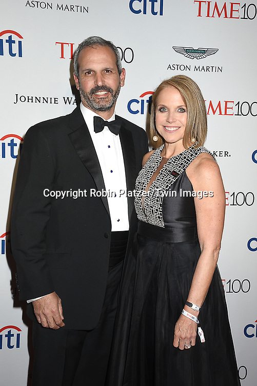 John Molnar and wife Katie Couric attend the TIME 100 Gala on April 25, 2017 at Frederick P Rose Hall, Home of Jazz at Lincoln Center in New York, <br /> New York, USA.<br /> <br /> photo by Robin Platzer/Twin Images<br />  <br /> phone number 212-935-0770