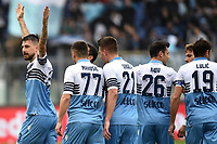 Francesco Acerbi of Lazio (L) celebrates after scoring a goal <br /> during the Serie A 2018/2019 football match between SS Lazio and Cagliari at stadio Olimpico, Roma, December 22, 2018 <br />  Foto Andrea Staccioli / Insidefoto