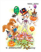GIORDANO, CUTE ANIMALS, LUSTIGE TIERE, ANIMALITOS DIVERTIDOS, Halloween, paintings+++++,USGI2054,#AC#