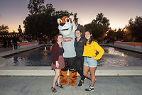 Tiger Club Tailgate, part of Homecoming and Family Weekend 2018. Alumni, students and parents were invited to a tailgate party for food, drinks and plenty of Oxy spirit prior to two athletics events, Oct. 19, 2018 at the Lucille Y. Gilman Memorial Fountain. <br />