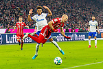 10.02.2018, Allianz Arena, Muenchen, GER, 1.FBL,  FC Bayern Muenchen vs. FC Schalke 04, im Bild Thilo Kehrer (Schalke #20) foult Arjen Robben (FCB #10) <br /> <br />  Foto &copy; nordphoto / Straubmeier