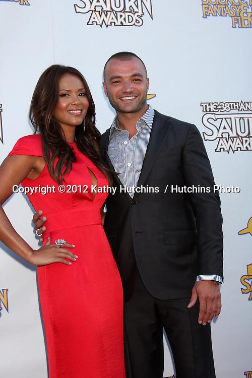 LOS ANGELES - JUL 26:  Lesley-Ann Brandt, Nick Tarabay arrives at the 2012 Saturn Awards at Castaways on July 26, 2012 in Burbank, CA