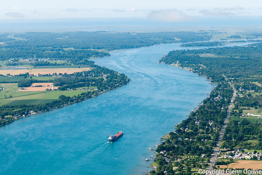 Aerial view of Chemical Valley for Fred Oliver of Kelgor. Pilot Jason Brent of Huron Flight Centre.Great Lakes shipping on the St. Clair River