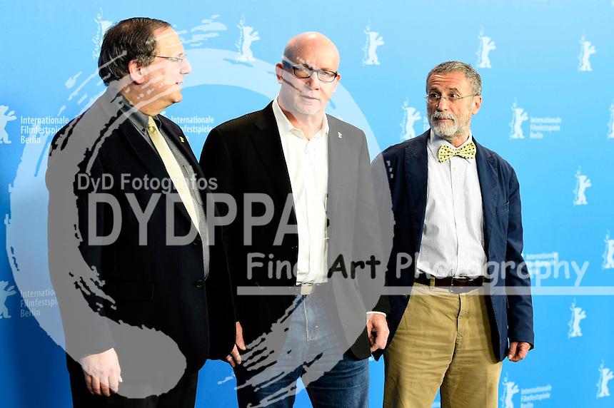 David Sanger, Alex Gibney und Yossi Melman beim Photocall zu 'Zero Days' auf der Berlinale 2016 / 66. Internationale Filmfestspiele Berlin. Berlin, 17.02.2016