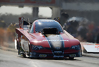 Sept. 21, 2012; Ennis, TX, USA: NHRA funny car driver Cruz Pedregon during qualifying for the Fall Nationals at the Texas Motorplex. Mandatory Credit: Mark J. Rebilas-