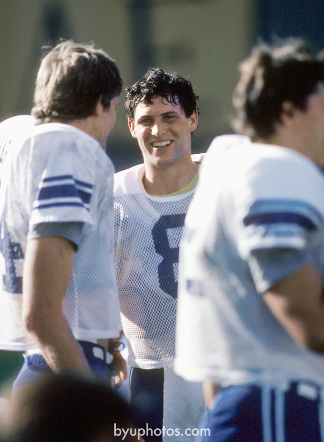 OCT 83-P7<br /> <br /> 8 Steve Young<br /> <br /> Photo by: Mark Philbrick/BYU<br /> &copy; BYU PHOTO 2010<br /> All Rights Reserved<br /> photo@byu.edu  (801)422-7322