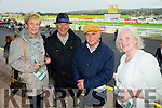L-r Teresa Donovan,Birmingham, Philip Donovan, Michael Donovan, and Mary Donovan, at the Listowel Harvest Racing Festival on Sunday