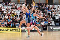 Mystics&rsquo; Bailey Mes in action during the Netball Pre Season Tournament - Mystics v Steel at Ngā Purapura, Otaki, New Zealand on Saturday 9 February  2019. <br /> Photo by Masanori Udagawa. <br /> www.photowellington.photoshelter.com