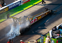 Jun 16, 2018; Bristol, TN, USA; NHRA top fuel driver Leah Pritchett during qualifying for the Thunder Valley Nationals at Bristol Dragway. Mandatory Credit: Mark J. Rebilas-USA TODAY Sports