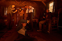 Deborah Ann Woll, Taylor Russell, Jay Ellis, Logan Miller and Nick Dodan  <br /> Escape Room (2019) <br /> *Filmstill - Editorial Use Only*<br /> CAP/RFS<br /> Image supplied by Capital Pictures