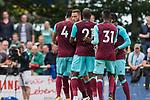 29.07.2017, Heinz-Dettmer-Stadion, Lohne, GER, FSP, SV Werder Bremen vs West Ham United<br /> <br /> im Bild<br /> Jos&eacute; / Jose Fonte (West Ham #4), Marko Arnautovic (West Ham #18), Angelo Ogbonna (West Ham #21), Edimilson Fernandes (West Ham #31), <br /> <br /> Foto &copy; nordphoto / Ewert