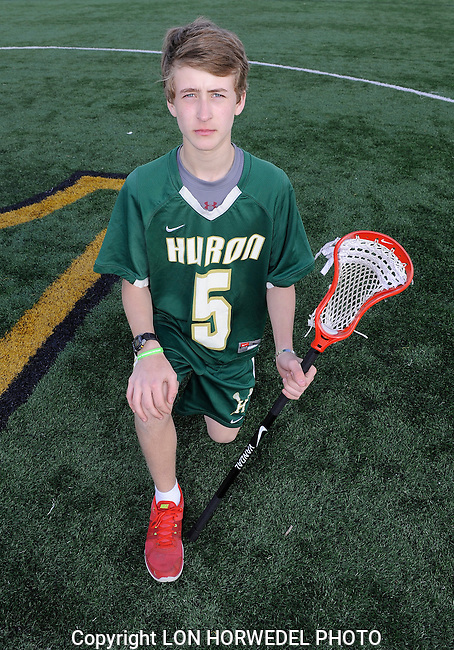 Huron High School boy's junior varsity lacrosse team.