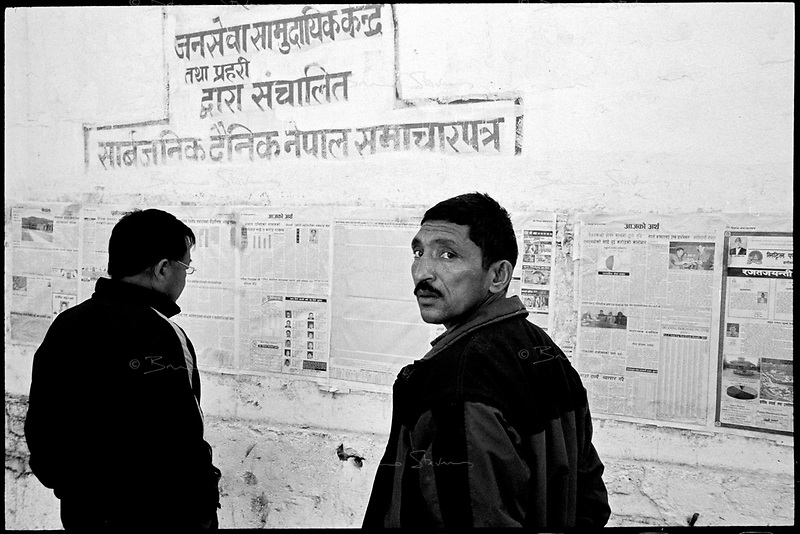 Kathmandu, Nepal, February 2005.On February 1st, King Gyanendra has decreted a state of emergency, suspending all democratic rights. All national press is now heavily monitored and censored.
