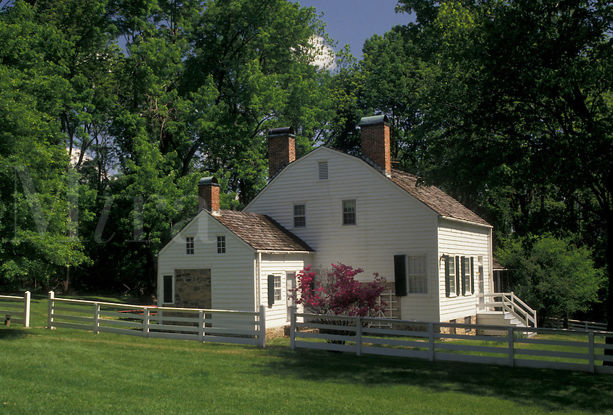 AJ4328, Morristown, New Jersey, Guerrin House, Morristown National Historical Park, Guerrin House at Jockey Hollow in Morristown Nat'l Historical Park in the state of New Jersey.