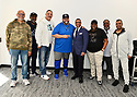 MIAMI, FLORIDA - JANUARY 29: Commissioned and Senior Vice President of Player Engagement, NFL Arthur McAfee (6th from L) attend the 21st Annual Super Bowl Gospel Celebration Press Conference at James L Knight Center on January 29, 2020 in Miami, Florida.  ( Photo by Johnny Louis / jlnphotography.com )