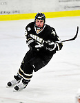 2 January 2011: Army Black Knight forward Jack Barnes, a Junior from Victoria, MN, in action against the Ohio State University Buckeyes at Gutterson Fieldhouse in Burlington, Vermont. The Buckeyes defeated the Black Knights 5-3 to win the 2010-2011 Catamount Cup. Mandatory Credit: Ed Wolfstein Photo