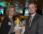 Debby Bullentini and Zachary Hartzell during the 26th Annual Salute to Women of Achievement Luncheon held at the Grand Sierra Resort on Thursday, May 25, 2017.