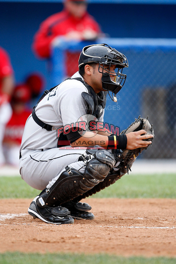 July 19, 2009:  Catcher Pedro Gonzalez of the Tri-City ValleyCats during a game at Dwyer Stadium in Batavia, NY.  The ValleyCats are the Short-Season Class-A affiliate of the Houston Astros.  Photo By Mike Janes/Four Seam Images