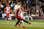 18th March 2018, Santiago Bernabeu, Madrid, Spain; La Liga football, Real Madrid versus Girona; Cristian Portugues (Girona FC) drives forward on the ball