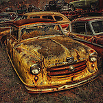Automobile rusting with other cars