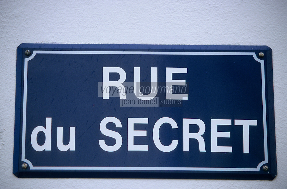 Europe/France/Pays de la Loire/85/Vendée/Ile d'Yeu/Port-Joinville : Plaque de la rue du secret